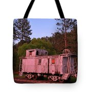 Old And Weathered Caboose Tote Bag