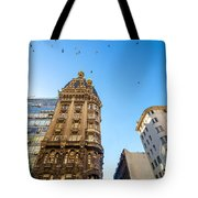 Old Apartment Building Tote Bag