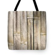 Old Bamboo Fence Tote Bag