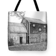 Old Barn Tote Bag by Sarah Batalka