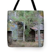 Old Barn With Side Shed Tote Bag
