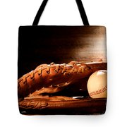 Old Baseball Glove Tote Bag