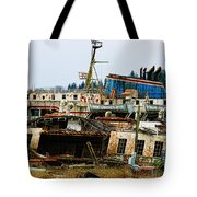 Old B.c. Rusted Ferry Tote Bag