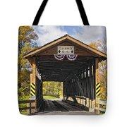 Old Bedford Village Covered Bridge Entrance Tote Bag