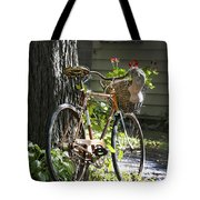 Old Bicycle And Hat Tote Bag