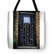 Vintage Cottage Black Door Tote Bag