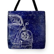 Old Blue Beetle Tote Bag