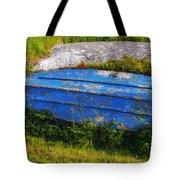 Old Blue Boat Tote Bag