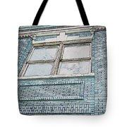 Old Blue Building I Tote Bag