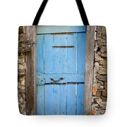 Old Blue Door Tote Bag