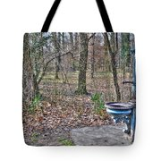 Old Blue Fountain Tote Bag