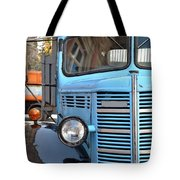 Old Blue Jalopy Truck Tote Bag