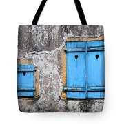 Old Blue Shutters Tote Bag