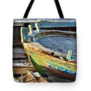 Old Boat - Lebanese Artist Zaher El- Bizri Tote Bag