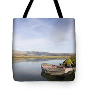 Old Boat On Afon Dovey River Tote Bag