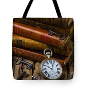 Old Books And Pocketwatch Tote Bag