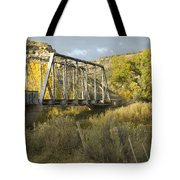 Old Bridge At La Boca Tote Bag