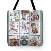 Old British Postage Stamps Tote Bag