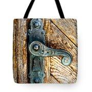 Old Bronze Church Door Handle Tote Bag