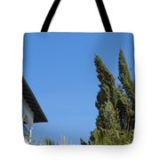 Old Building And Trees Tote Bag