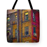 Old Building With  Pipe Tote Bag