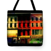 Old Buildings 6th Avenue - Vintage Nyc Architecture Tote Bag