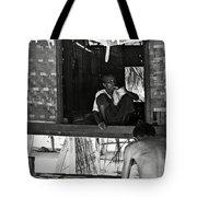 Old Burmese Smoker Woman Tote Bag
