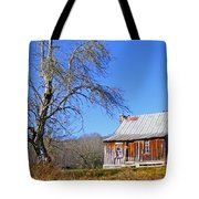 Old Cabin And Tree Tote Bag