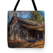 Old Cabin In The Woods Tote Bag