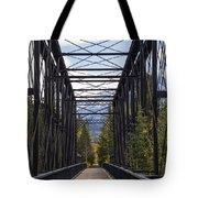 Old Canmore Railroad Bridge Tote Bag