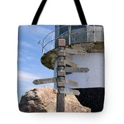 Old Cape Point Lighthouse In South Africa Tote Bag