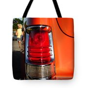 Old Car Tail Light Tote Bag