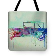 Old Car Watercolor Tote Bag by Naxart Studio