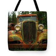 Old Cars Left To Decorate The Weeds Tote Bag