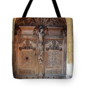 Old Carved Church Door Tote Bag