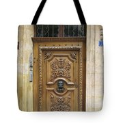 Old Carved Door Tote Bag