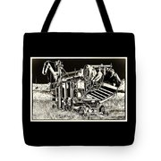 Old Case Thresher - Black And White Tote Bag