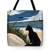 Old Cat And The Sea Tote Bag