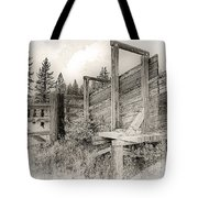 Old Cattle Ramp Tote Bag