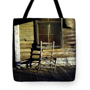 Old Chair On Old Porch Tote Bag