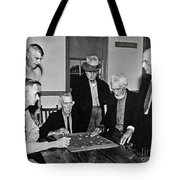 Old Checker Game Tote Bag