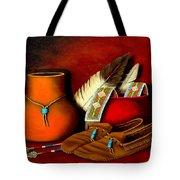 Old Cherokee Moccasins Tote Bag
