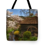Old Cherry Blossom Water Mill Tote Bag