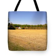 Old Chicken House On A Farm Field Tote Bag