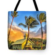 Old Church At Honokawai Maui Tote Bag