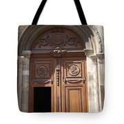 Old Church Door Cathedral Autun Tote Bag