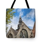 Old Church In Amsterdam Tote Bag