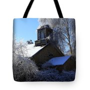 Old Church In Ice Tote Bag