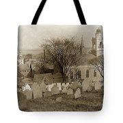 Old Church's Cemetery Graveyard Boston Massachusetts Circa 1900 Tote Bag