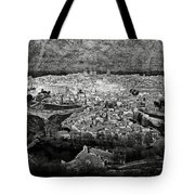 Old City Of Toledo Bw Tote Bag